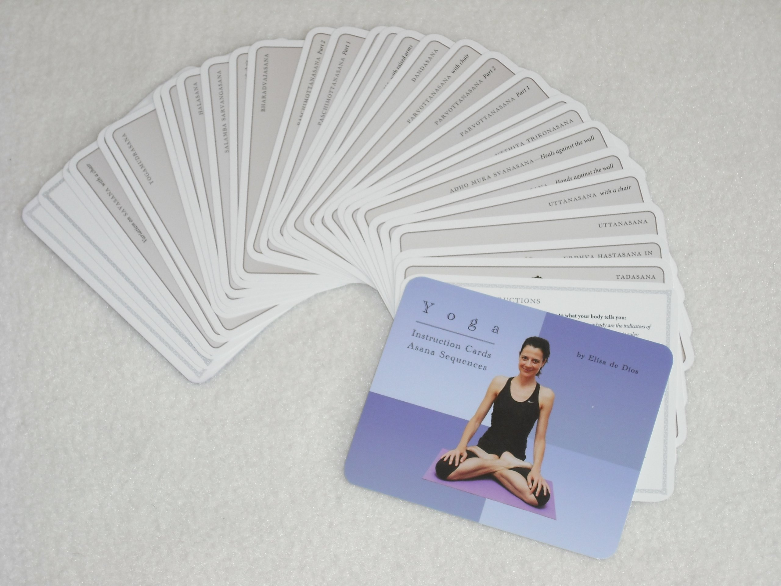 Amazon.com: New Yoga Flash Cards - Asana Instruction ...