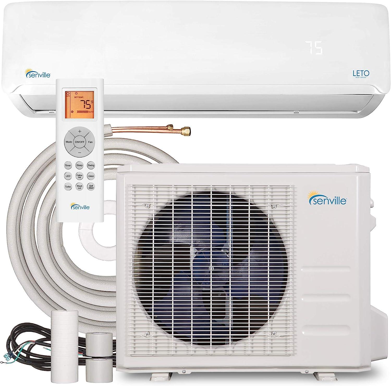 Senville SENL-09CD Mini Split Air Conditioner Heat Pump, 9000 BTU 110/120V