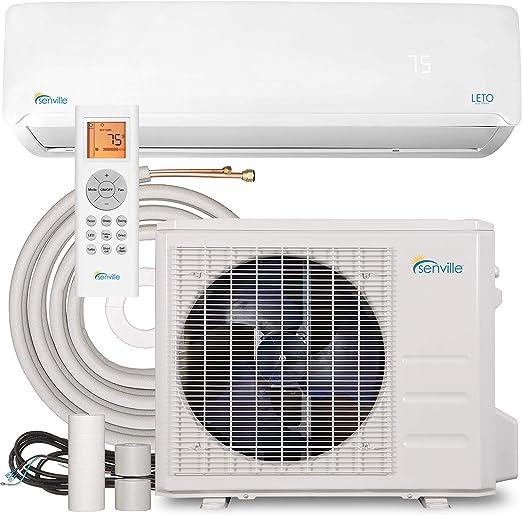 Amazon Com Senville Senl 24cd Mini Split Air Conditioner Heat Pump 24000 Btu 17 Seer 208 230v White Home Kitchen