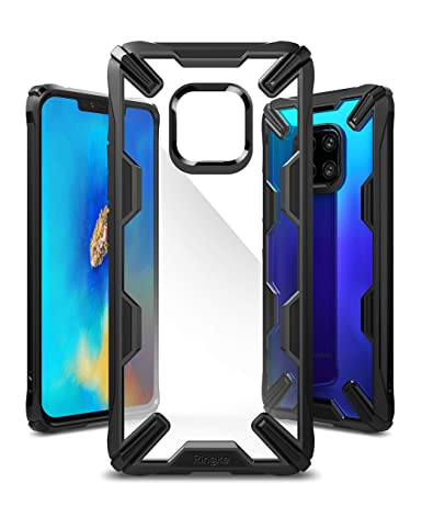 Ringke Fusion-X Designed for Huawei Mate 20 Pro Case Cover Clear Dot PC Back with Rugged TPU Bumper Anti Rainbow Effect (Straps Access Design) for ...