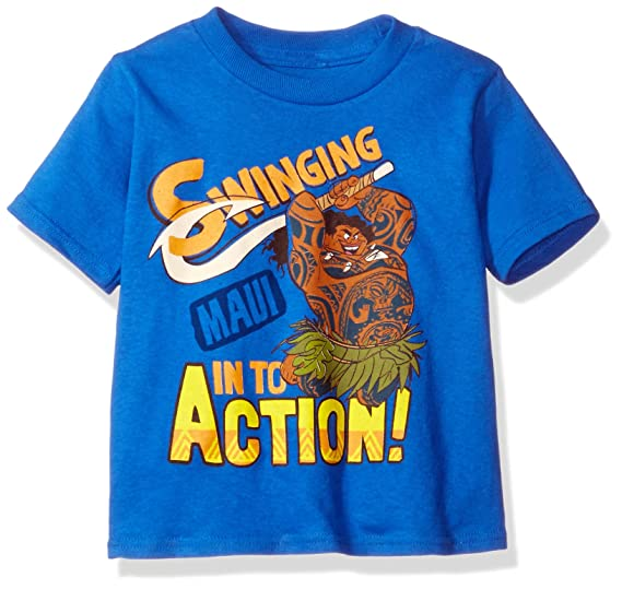 2a9b9010 Amazon.com: Disney Toddler Boys' Moana Short-Sleeved T-Shirt: Clothing