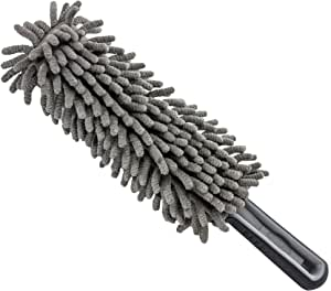 Relentless Drive Ultimate Dash Duster - The Best Microfiber Multipurpose Duster - Car and Home Interior Use - Professional Detailing Tool - Lint Free - Unbreakable Comfort Handle