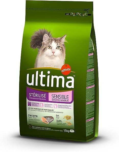 ultima Gatos stérilisés sensibles Alimentos formulé 1,5 kg – Pack ...