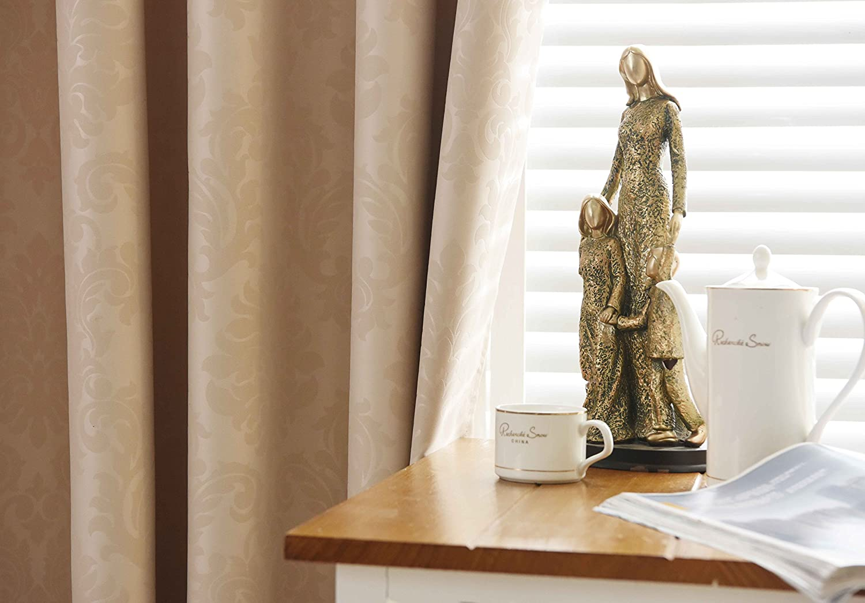 Verdunkelungsvorhang Verdunkelungsgardine Gardine Vorhang Ösen Blickdicht Thermogardine 2 Stücke Modern Modern Modern (135x245 cm, Beige mit Rankenmuster 1er) B01LXW0C78 Vorhnge a4a287