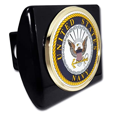 Elektroplate United States Navy Eagle Black Metal Hitch Cover: Automotive