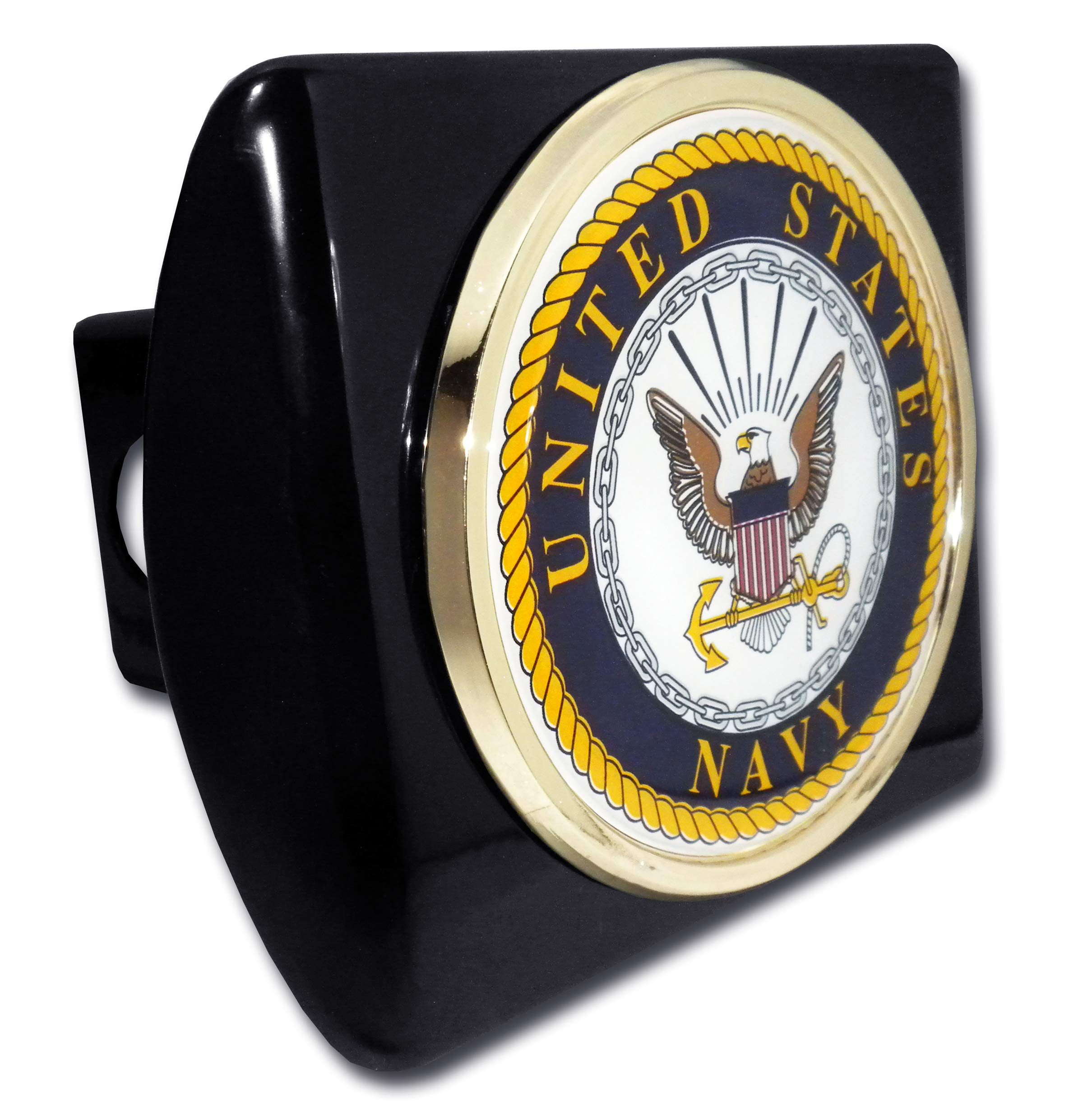 Elektroplate United States Navy Eagle Black Metal Hitch Cover by Elektroplate