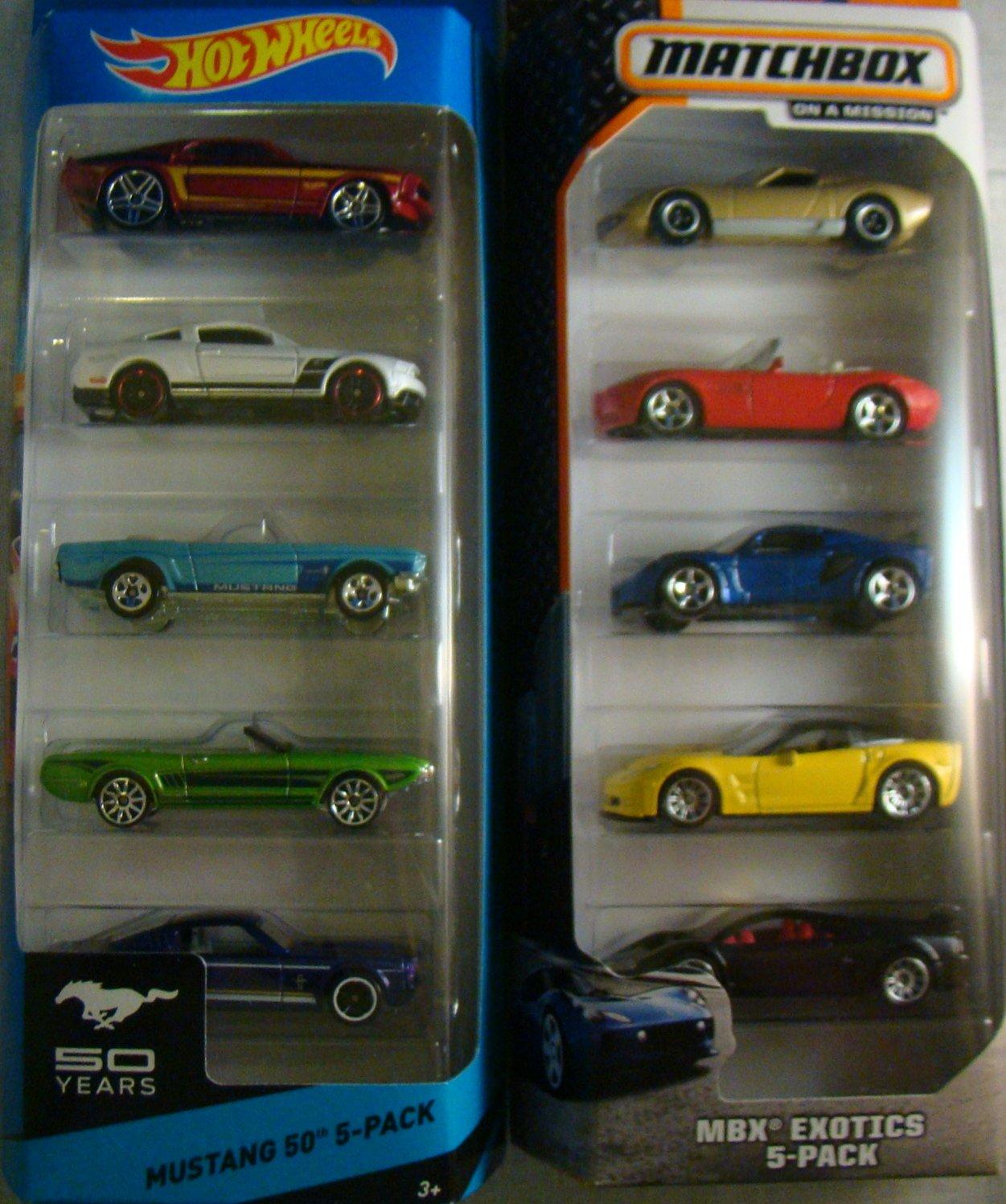 Diecast Exotic Sports Car Mustangs Set 2014