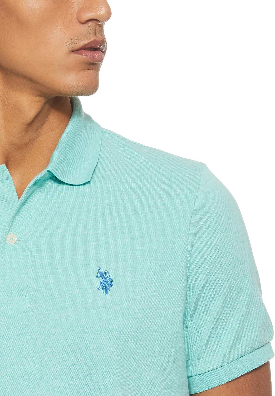 Polo Assn U.S Mens Classic Small Pony Solid Pique Polo Shirt