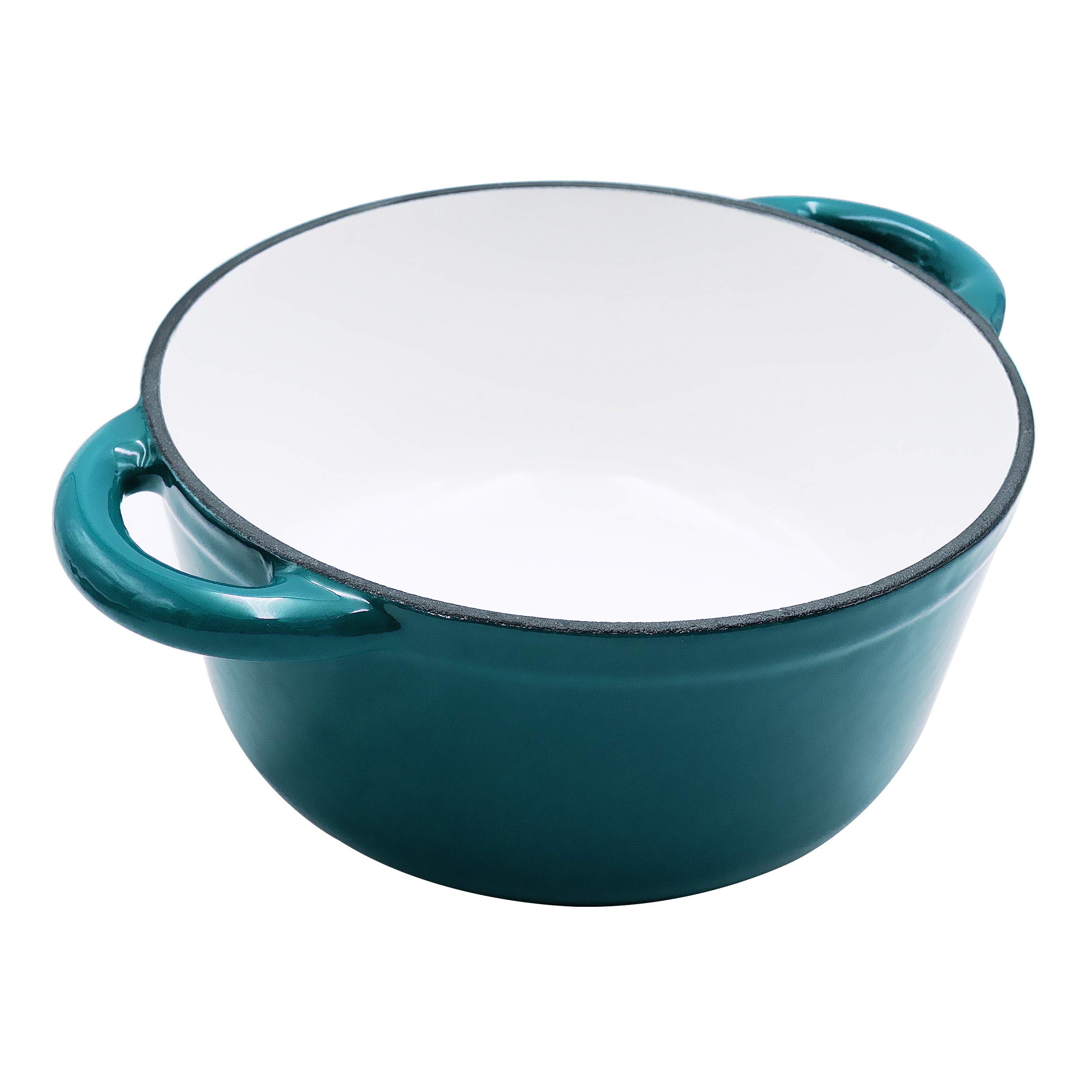 Enameled Cast Iron Dutch Oven - 5-Quart Turquoise Blue Round Ceramic Coated Cookware French Oven with Self Basting Lid by AIDEA by AIDEA (Image #4)