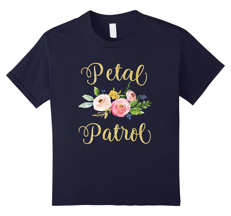 Petal Patrol Gold Glitter T Shirt-Awarplus
