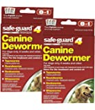 8 in 1 Safe Guard Canine Dewormer for Large Dogs, 4-Gram- 2 Pack ( 2 Pouches per Pack)