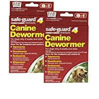 8 in 1 Safe Guard Canine Dewormer for Large Dogs, 4-Gram- 2 Pack ( 2 Pouches per...
