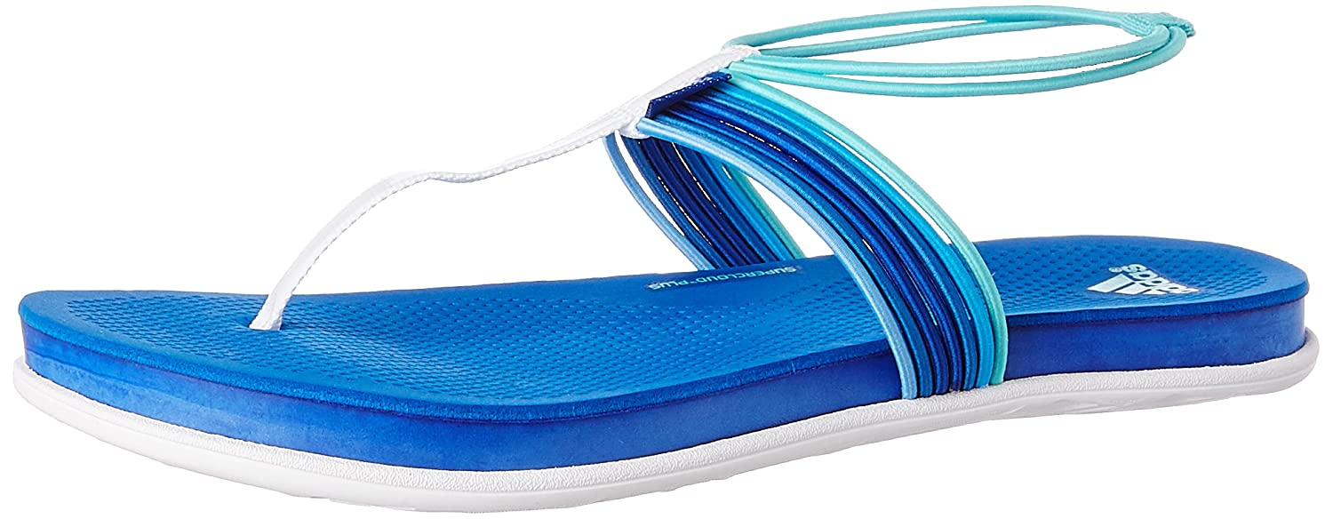 f663be2535bf adidas Women s Adipure Vivida Thong W White and Blue Flip-Flops and House  Slippers - 8 UK  Buy Online at Low Prices in India - Amazon.in