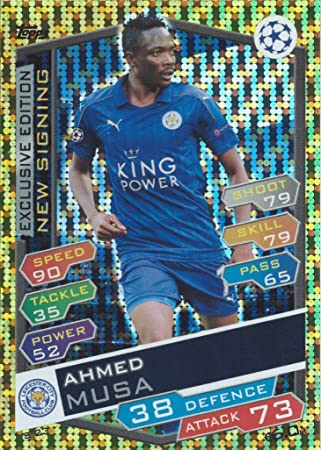 ahmed musa-Exclusive Edition Topps Champions League 2016//17-s23