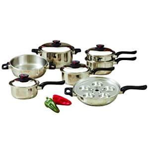 World's Finest 7-Ply 17pc Stainless Steel Cookware Set