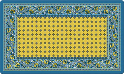 Toland Home Garden 830006 French Paisley- Yellow 18 x 30 Recycled Mat, USA Produced