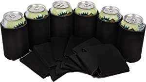 QualityPerfection 200 Beer Can Coolers Sleeves - Collapsible Bottle, Soda Holder | Insulated Coolie for Personalized Sublimation, HTV | Perfect for DIY Projects, Weddings Parties, Events (200, Black)
