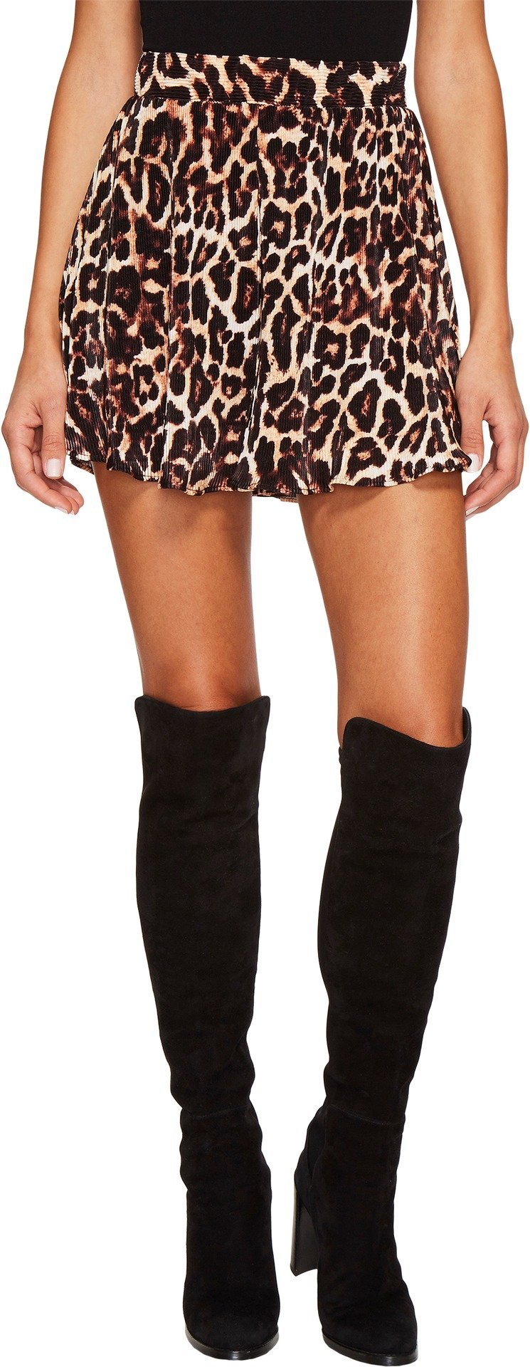 Show Me Your Mumu Women's Carlos Swing Shorts Coyote Kitty Pleat Medium