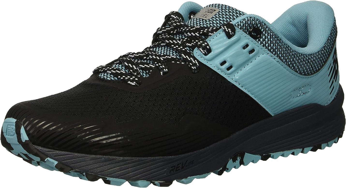 aecb1cb2301ae New Balance Women's Nitrel V2 FuelCore Trail Running Shoe  Black/Thunder/Enamel Blue 5