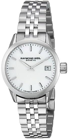 Raymond Weil Reloj Analógico para Mujer de Cuarzo con Correa en Acero Inoxidable 5626-ST-97021: Amazon.es: Relojes
