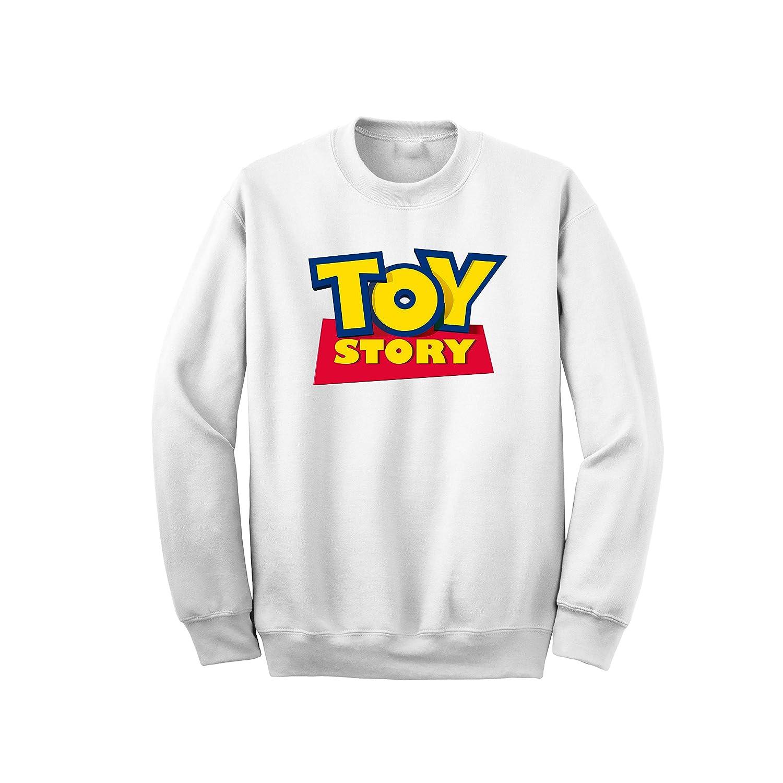 Toy Story Felpa Girocollo 22B Senza Cappuccio Idea Regalo Uomo Donna Ragazzo Ragazza Abbigliamento Woody Buzz Lightyear Film Disney Cinema Cartoon Cartone Il Mondo dei Giocattoli Pixar Disney