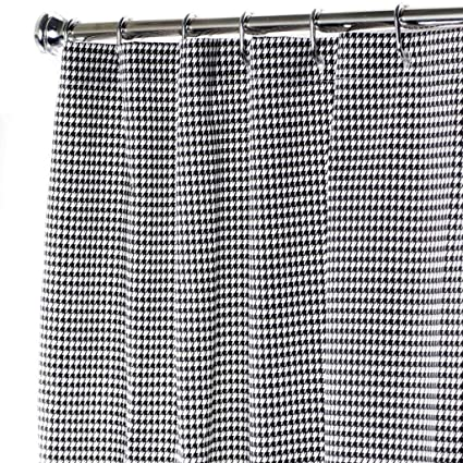 Shower Curtains Black And White Curtain Unique Fabric Bathroom Houndstooth 72quot