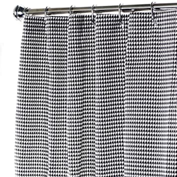 Awesome Extra Long Shower Curtain Bathroom Curtains Black And White Shower Curtain  Unique Houndstooth 96u0026quot;