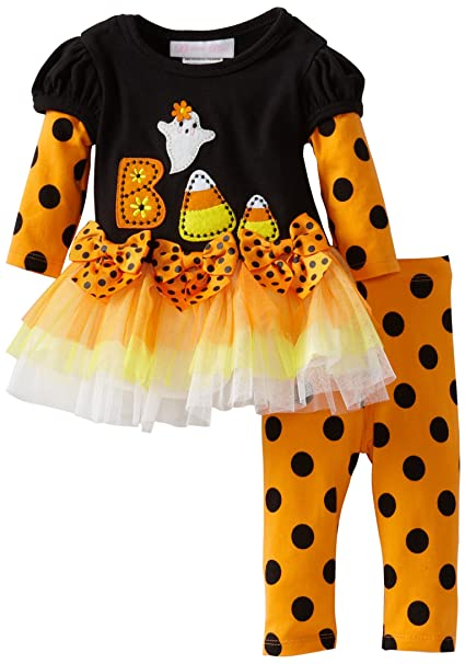 10816152ffdf1 Amazon.com: Bonnie Baby-girls Newborn Candy Corn Applique Legging Set:  Infant And Toddler Pants Clothing Sets: Clothing