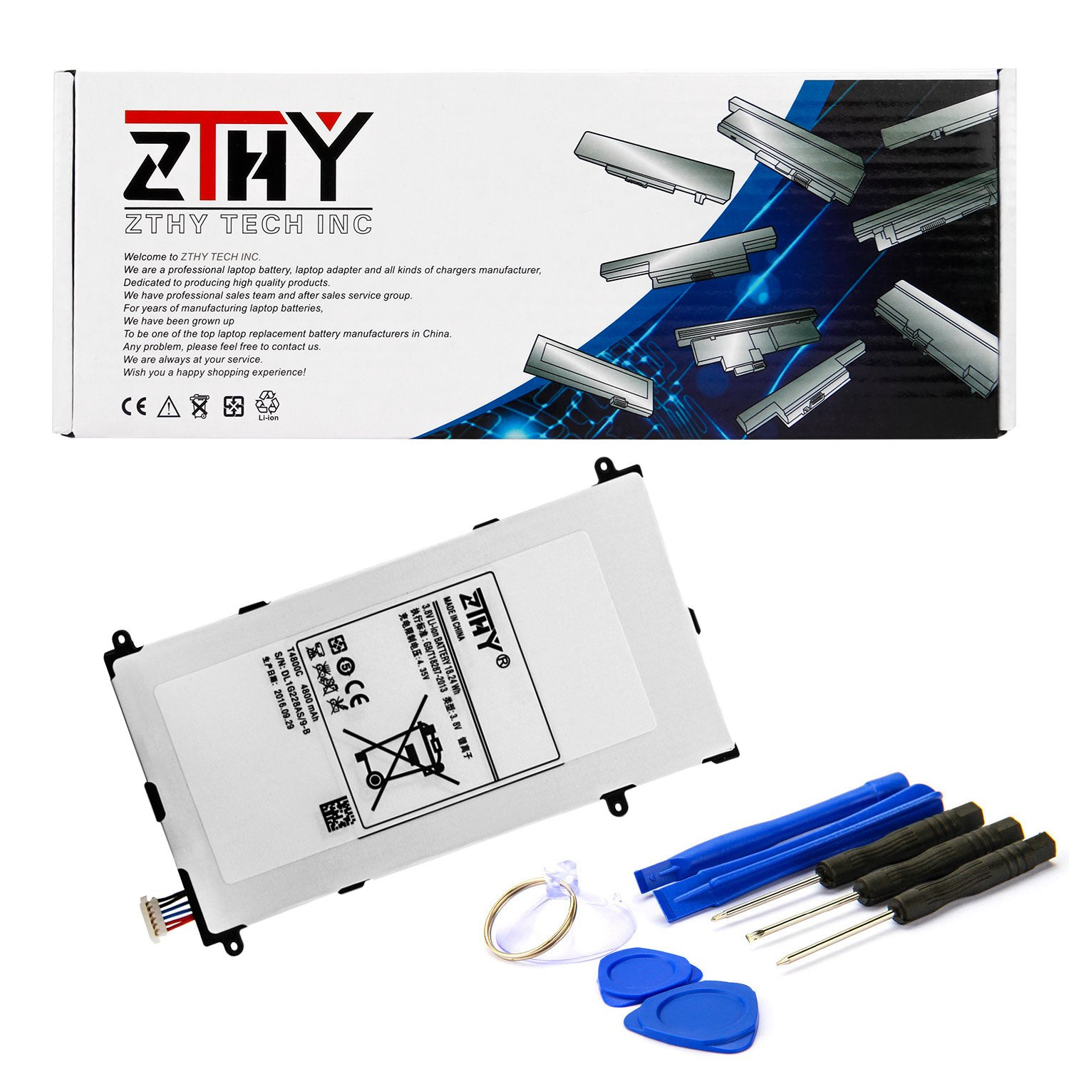 ZTHY Compatible T4800E T4800C Tablet Battery Replacement for Samsung Galaxy Tab Pro 8.4'' SM-T325 SM-T320 SM-T321 Series Tablet T4800K 4800mAh with Tools