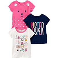 Carter's Baby Girls' 3-Pack Short-Sleeved T-Shirt