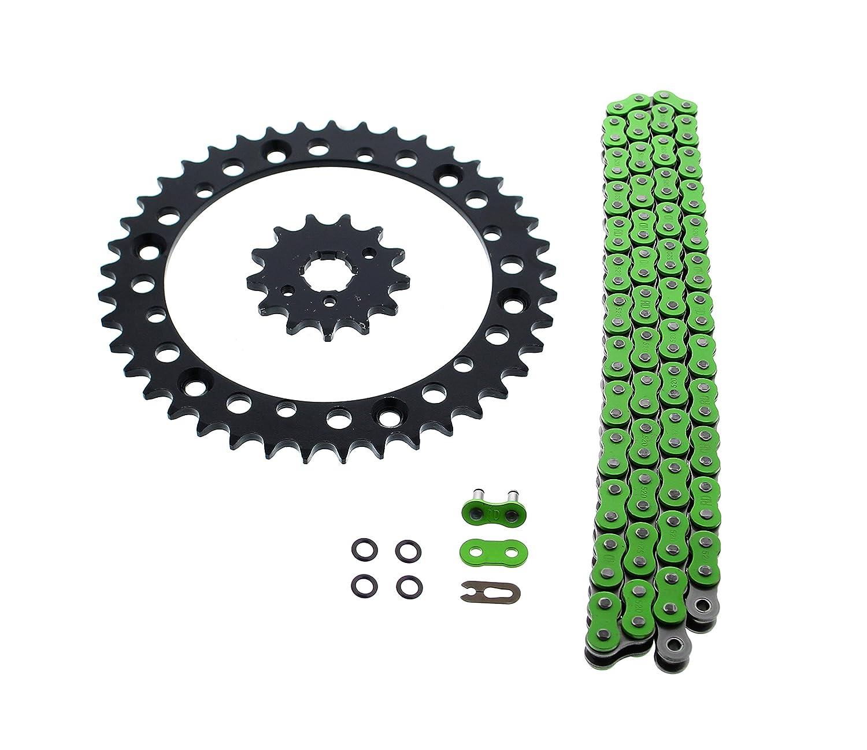 Green O Ring Chain /& Sprocket Black 13//40 98L Yamaha YFM350 Warrior 350