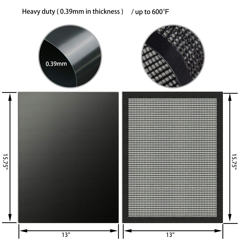 MMMAT BBQ Grill Mat - 100% Non Stick Heavy Duty 600 Degree Grill Mats - Set  of 3 - Lifetime Manufacturers Warranty