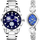 ADAMO Designer Analog Blue Dial Unisex's Watch-108-2455SM05