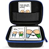 DOUBI Carrying Case for Joking Hazard - fits up to 400 cards , for Expansion Pack Toking Hazard by Joking Hazard, Deck Enhancement #1
