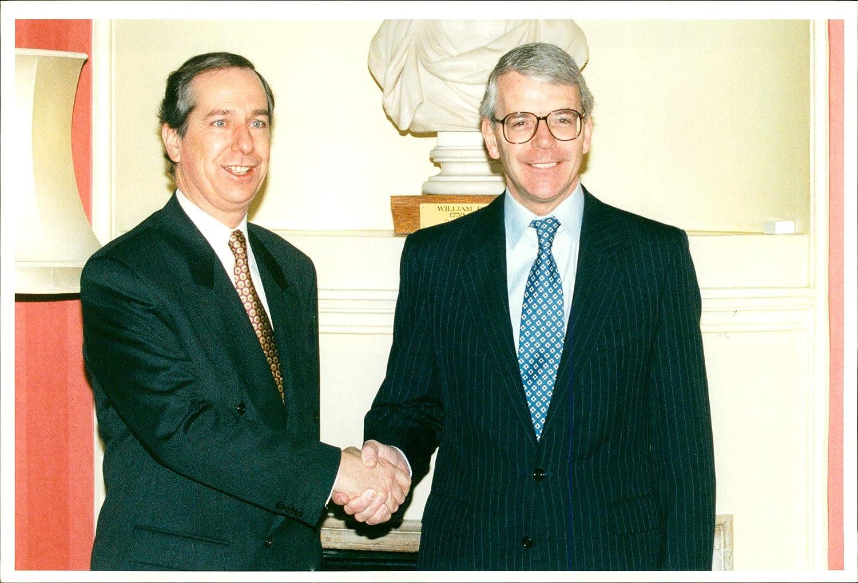 Vintage Photo of John Major: Prime Minister John Major met The Premier of Quebec Daniel Johnson.