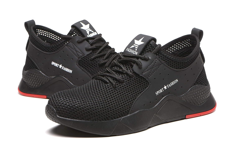 Superwl Zapatos Seguridad Hombre Mujer Ligeros S3 Calzado de Seguridad Antideslizante Zapatos de Trabajo Punta de Acero Protecci/ón Zapatos de Trabajo 36-46