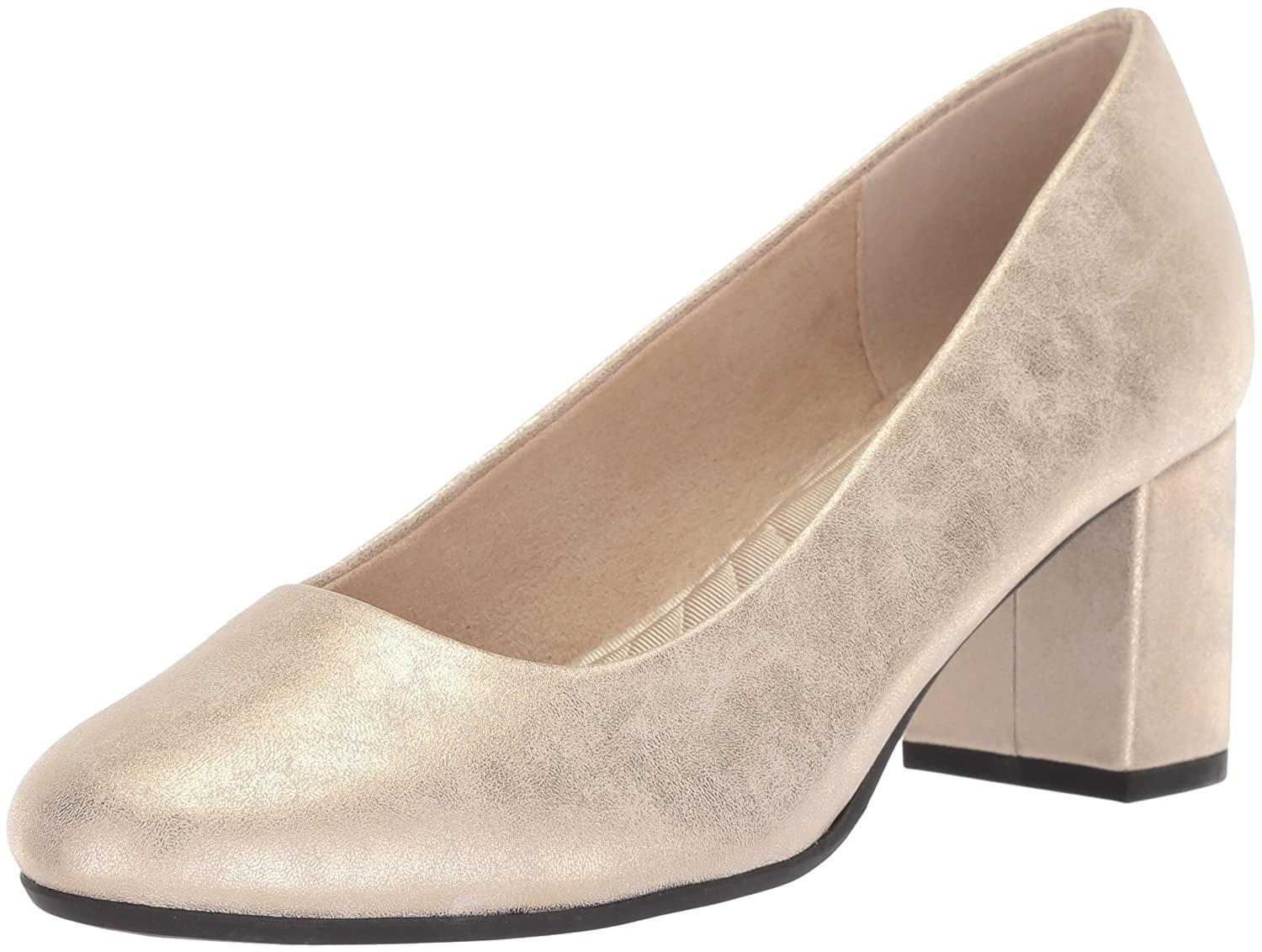 Easy Street Women's Proper Pump B077ZMJWJH 7 N US|Gold/Metallic
