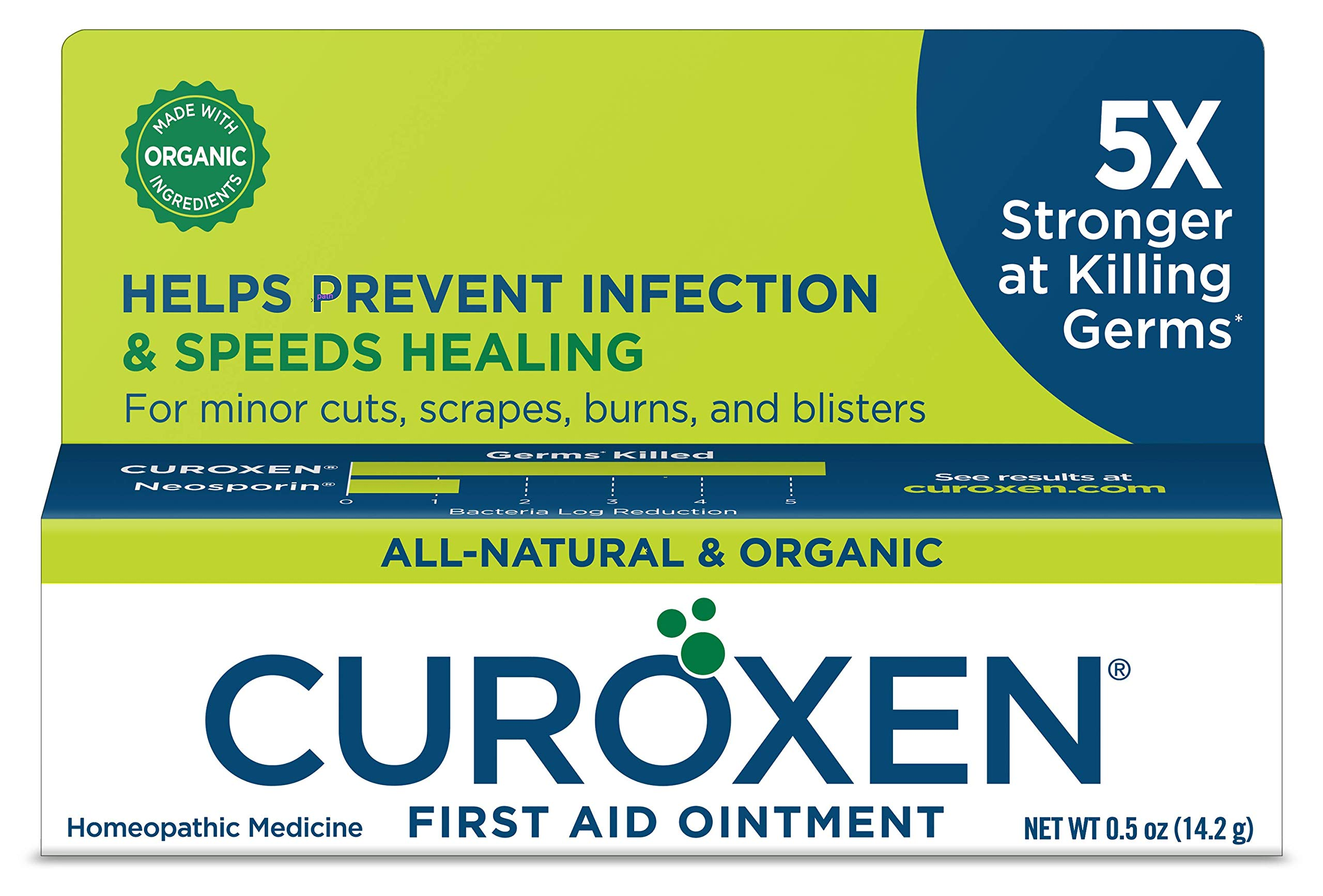 CUROXEN First Aid Antibiotic Ointment, 0.5oz | All-Natural & Organic Ingredients| First Aid Refill