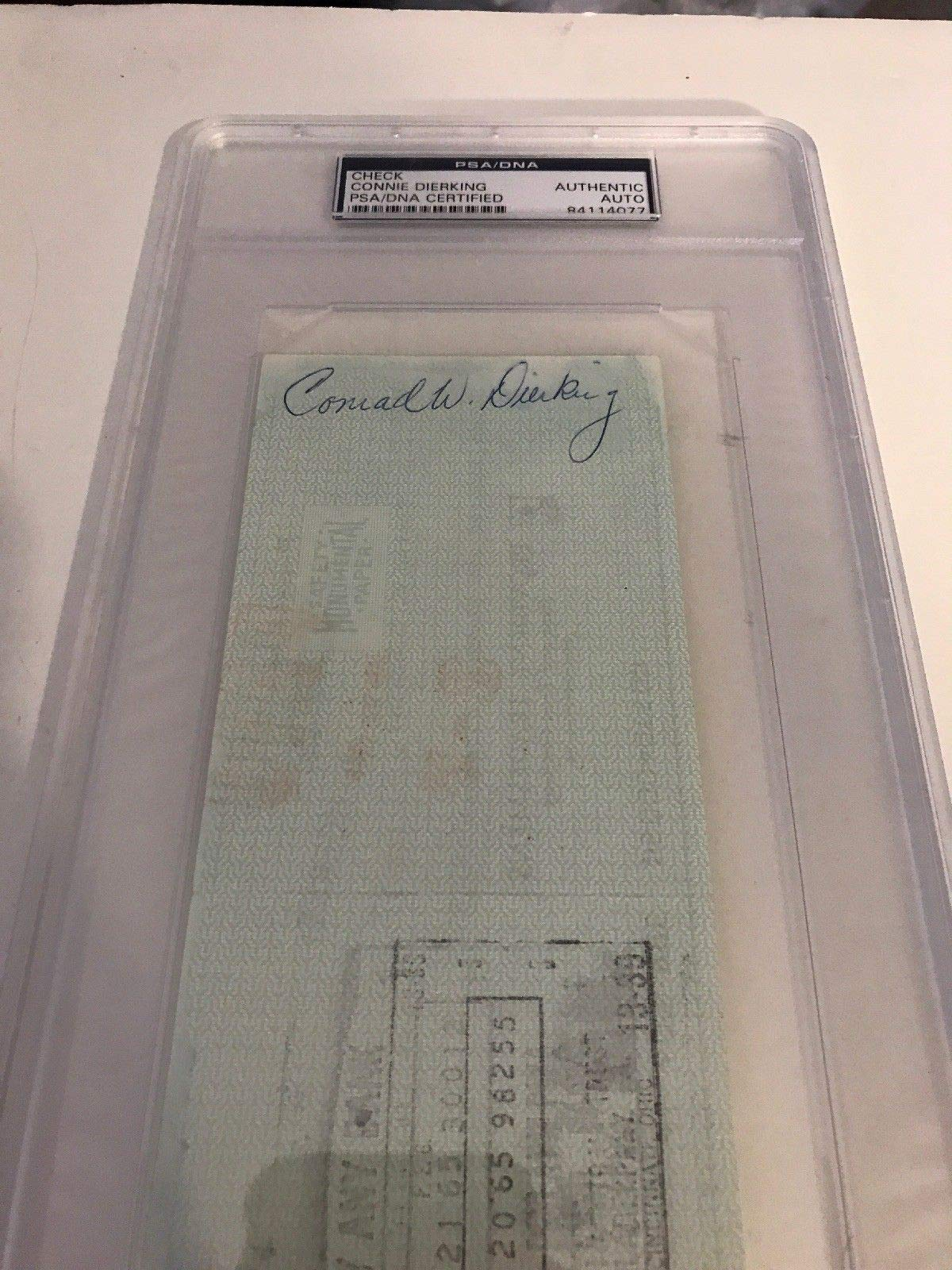 Conrad Dierking Autographed Signed Philadelphia 76Ers Payroll Check PSA/DNA Authentic Encapsulated