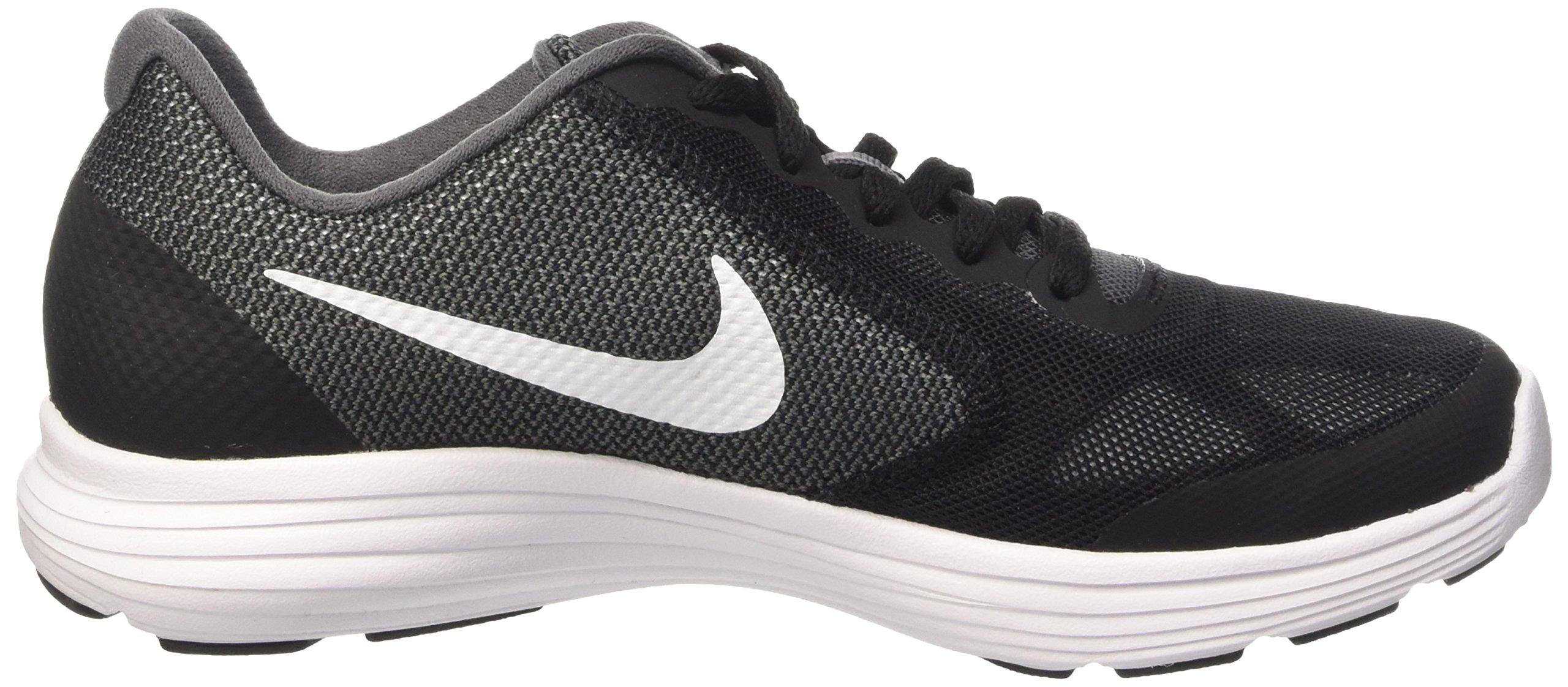 Nike Boys' Revolution 3 (GS) Running Shoe Dark Grey/White/Black/Pure Platinum 3.5 M US Big Kid by Nike (Image #6)