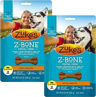product image for Zuke's Z-Bone Dental Chew Dog Treats, Carrot, Mini, 36 Chews
