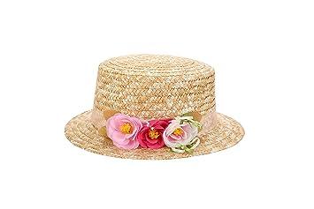 Lote de 5 Sombreros Canotier Surtidos de Vestir con Cinta y Flores - Ideal para  Bodas 5d633991d757