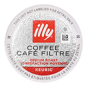 illy Coffee, Smooth and Balanced, Medium Roast Coffee K-Cups, Made with 100% Arabica Coffee, All-Natural, No Preservatives, Coffee Pods for Keurig Coffee Machines, K-Cups, 10 K-Cup Pods