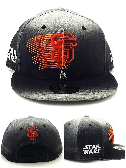 uk availability e6bd8 2f61a Amazon.com   New Era San Francisco Giants 9Fifty Star Wars Lightsaber Gray Black  Snapback Hat Cap   Sports   Outdoors