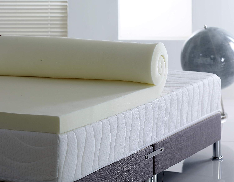 NEW VISCO ELASTIC MEMORY FOAM MATTRESS TOPPER 8CM SINGLE EXTRA HIGH DENSITY BEDS