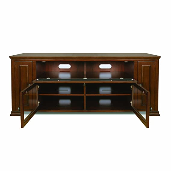 BellO PR33 Espresso Finished Audio Video Cabinet for 32-65 Inch Dark Brown