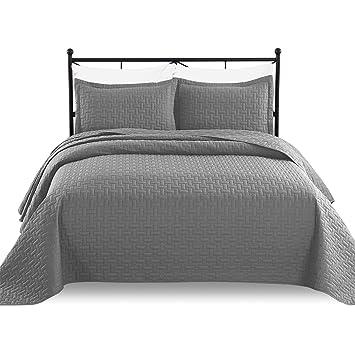 Amazon.com: Luxe Bedding - Juego de cama de 3 piezas, colcha ...