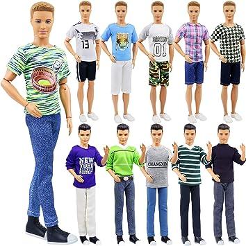 Ropa de moda traje de ropa para el novio de  Ken Doll T-Shirt Jeans