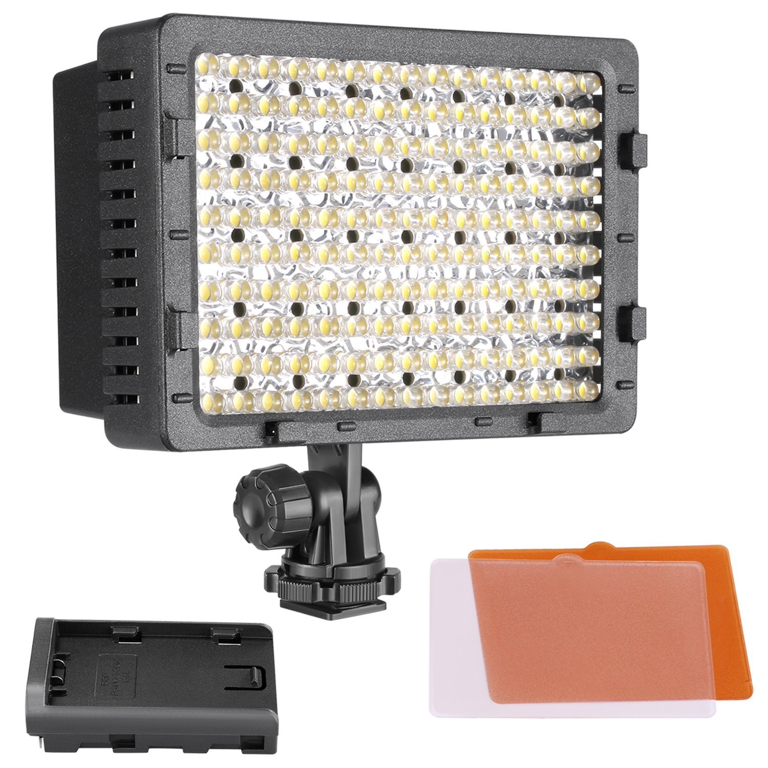 NEEWER 3-Pack 160 LED CN-160 Dimmable Ultra High Power Panel Digital Camera/Camcorder Video Light, LED Light for Canon, Nikon, Pentax, Panasonic,SONY, Samsung and Olympus Digital SLR Cameras