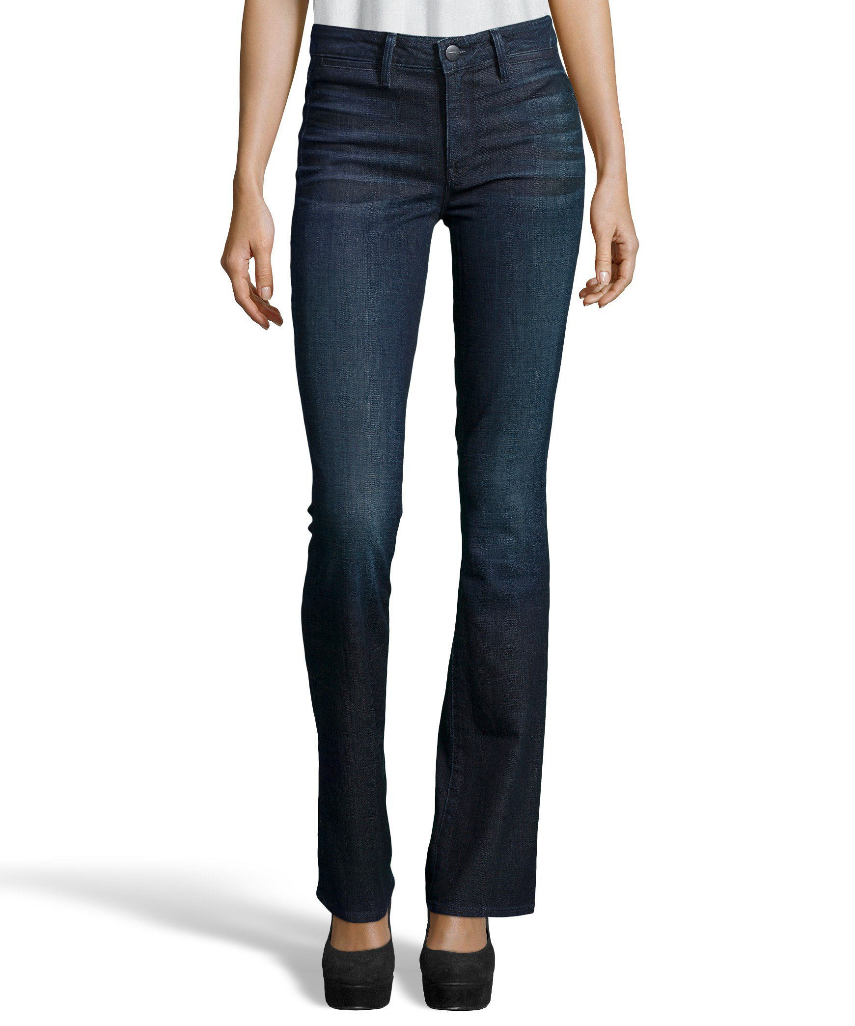 Vince Women's Taylor High Rise Boot Cut Jeans 27W Dark Resin Crease